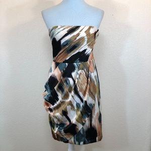 Ann Taylor Strapless Dress Brush Stroke Jade, 2